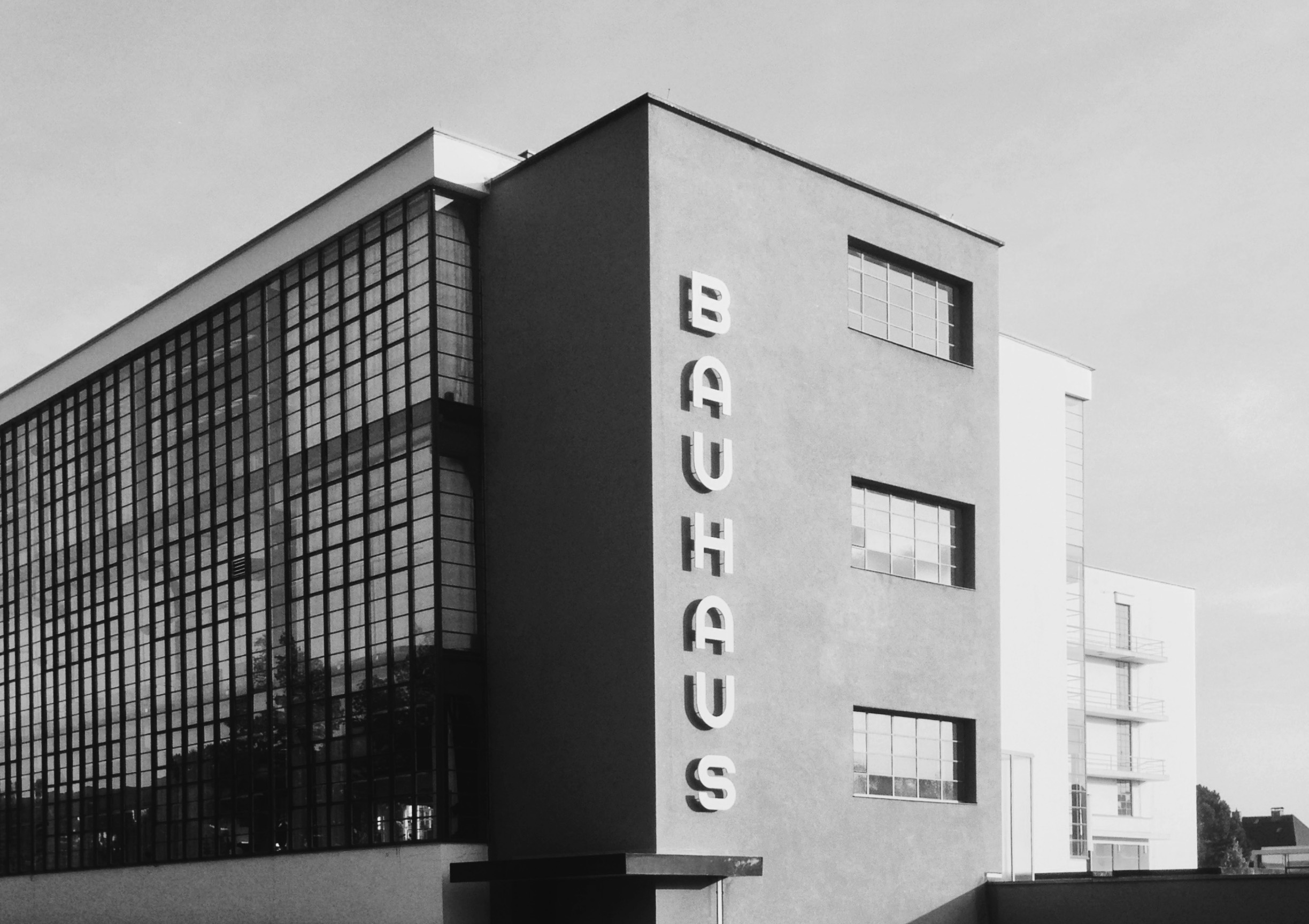 Bauhaus building in Dessau by architect Walter Gropius. Photographer: Glenn Garriock.